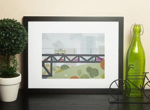 Edmonton - High Level Art Print