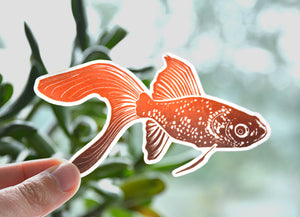 Goldfish Glossy Vinyl Sticker