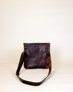 Leather Crossbody Purse made with Horween Burgundy Chromexcel