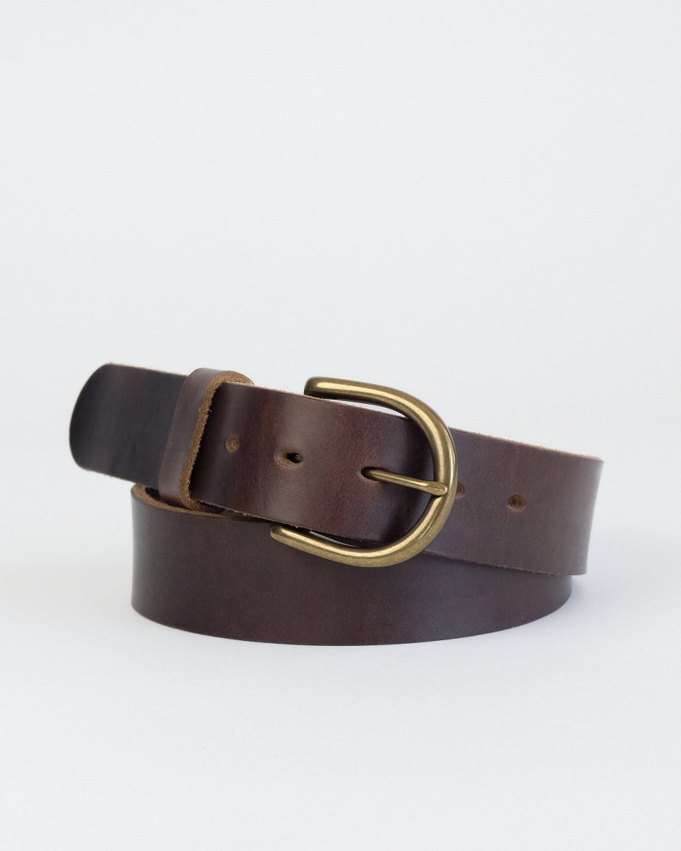 Horween Brown Chromexcel leather Daniel belt