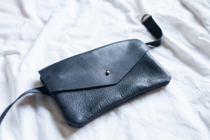 Envelope Leather Fanny Pack