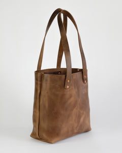 Leather Tote Bag in Horween Natural Chromexcel