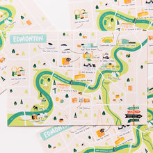 Load image into Gallery viewer, Edmonton Map Postcards | Set of 4