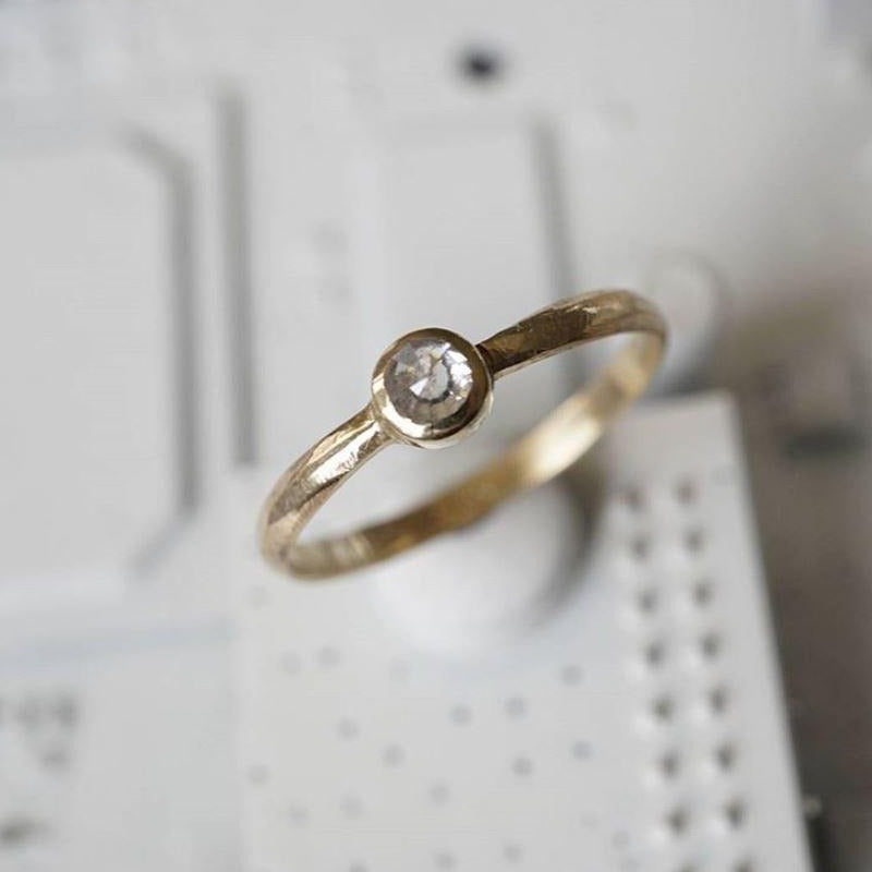 Rose-cut Diamond Ring
