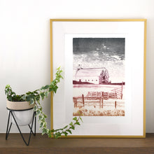 Load image into Gallery viewer, Untitled - Barn Lithograph Print - 14x19.5""