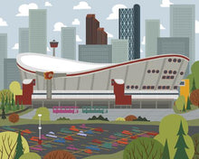 Load image into Gallery viewer, Calgary - Saddledome - Art print