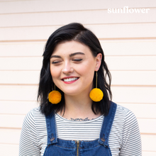 Load image into Gallery viewer, Large Pom Pom Earrings