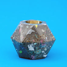 Load image into Gallery viewer, Large Terrazzo Facets Concrete Candle Holder
