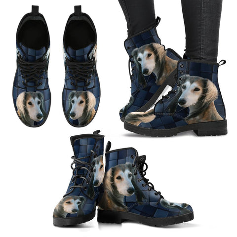 Valentine's Day SpecialSaluki Dog Print Boots For Women
