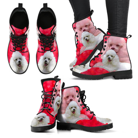 Valentine's Day SpecialToy Poodle Dog Print Boots For Women