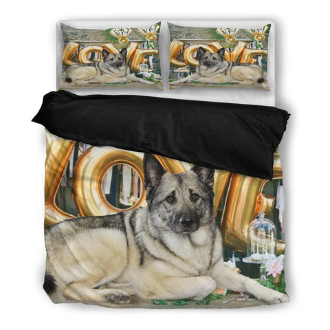 Norwegian Elkhound Love Print Bedding Set
