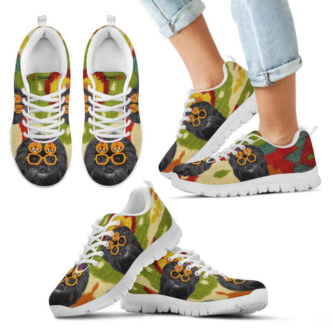 Affenpinscher Halloween Print Running Shoes For Kids