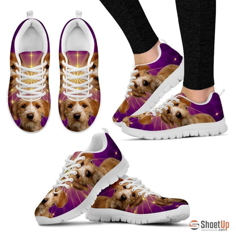 Basset Fauve de Bretagne Dog (White/Black) Running Shoes For Women