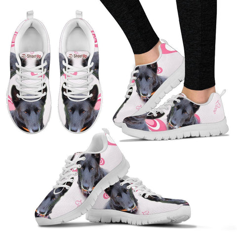 Amazing Customized Dog Print Running Shoes For WomenExpress Shipping Designed By Maria Chambers
