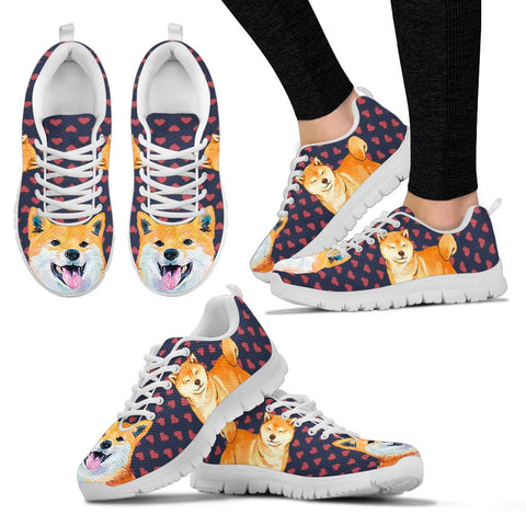 Valentine's Day SpecialShiba Inu Dog Print Running Shoes For Women