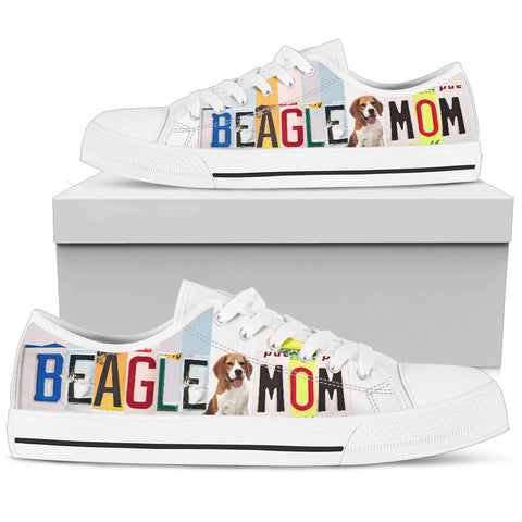 Beagle Mom Print Low Top Canvas Shoes For Women
