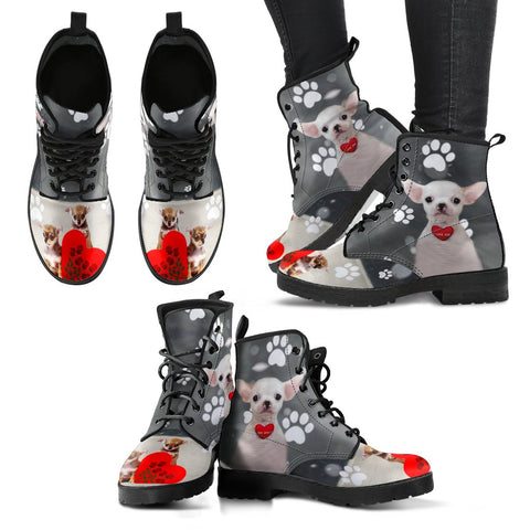 Valentine's Day SpecialChihuahua Dog Print Boots For Women