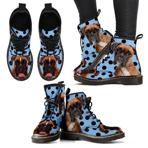 Boxer Print Boots For WomenExpress Shipping