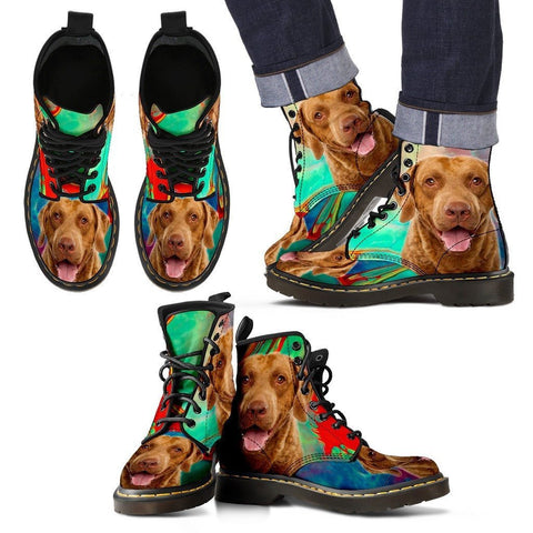 Chesapeake Bay Retriever Print Boots For MenExpress Shipping