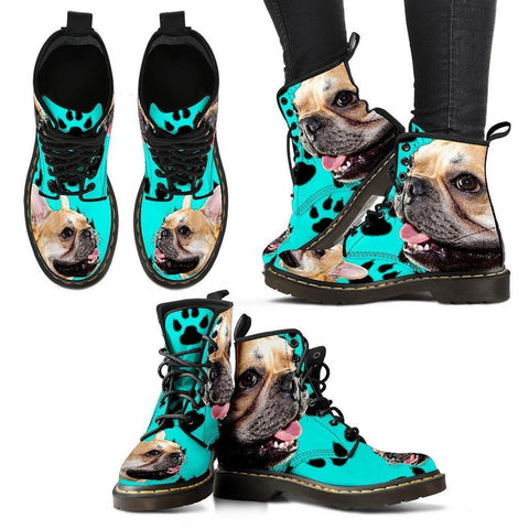 French Bulldog Print Boots For WomenExpress Shipping
