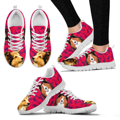 Valentine's Day SpecialShetland Sheepdog Print Running Shoes For Women