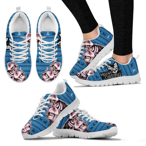 American Shorthair Cat Christmas Running Shoes For Women