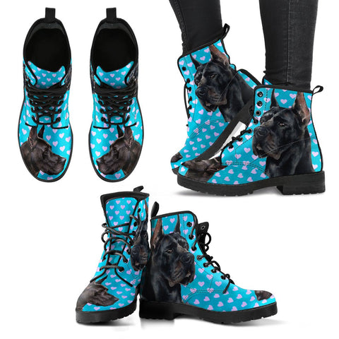 Valentine's Day SpecialGreat Dane Dog Print Boots For Women