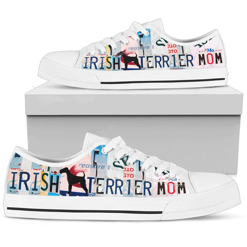 Irish Terrier Mom Print Low Top Canvas Shoes for Women