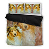 Amazing Collie Dog Print Bedding Set