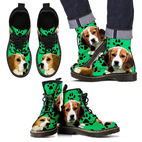Paws Print Beagle Boots For MenLimited EditionExpress Shipping
