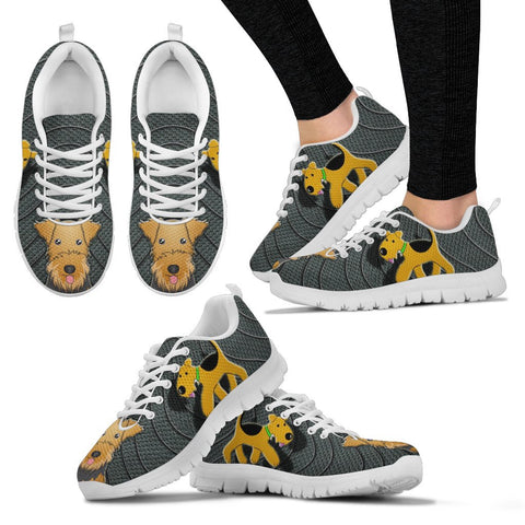 Airedale Terrier Print Running Shoes For Women