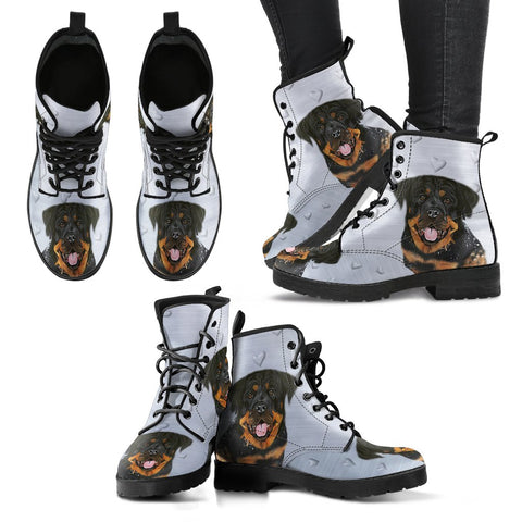 Valentine's Day SpecialRottweiler Print Boots For Women