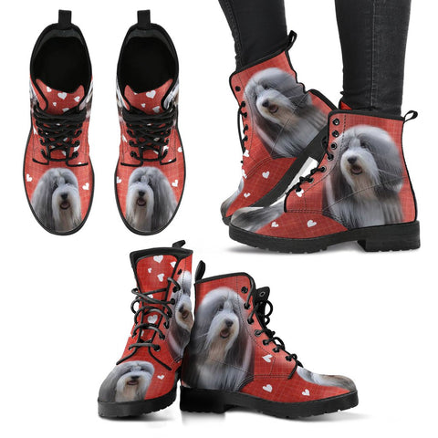 Valentine's Day SpecialBearded Collie Red Print Boots For Women