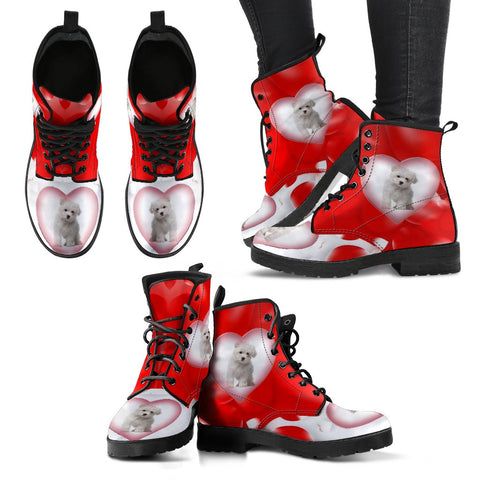 Valentine's Day SpecialMaltese Dog Print Boots For Women