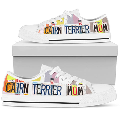Cairn Terrier Mom Print Low Top Canvas Shoes for Women