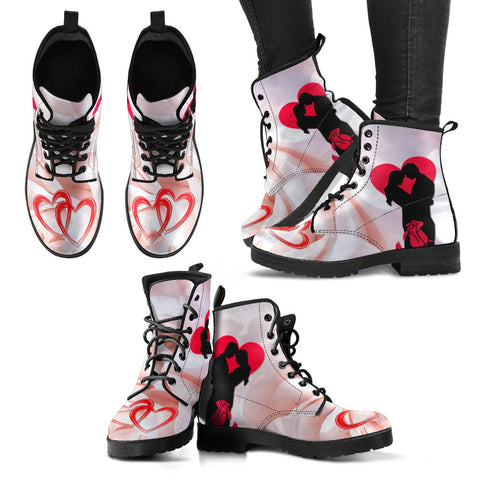 Valentine's Day Special Couple Print Boots For Women