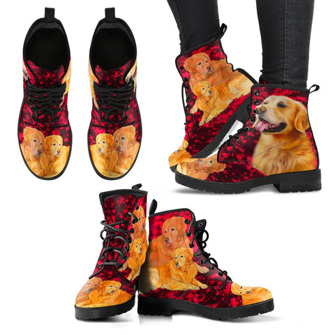 Valentine's Day SpecialGolden Retriever Print Boots For Women