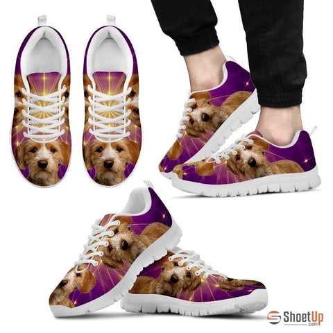 Basset Fauve de Bretagne Dog (White/Black) Running Shoes For Men