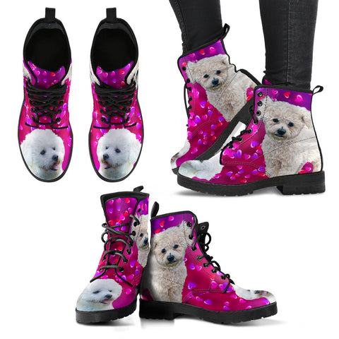 Valentine's Day SpecialBichon Fries Dog Print Boots For Women