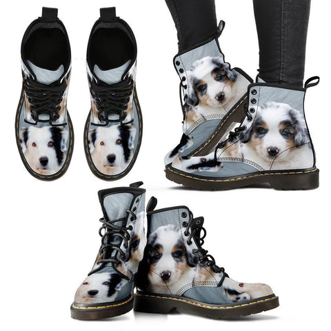 Australian Shepherd Print Boots For WomenExpress Shipping