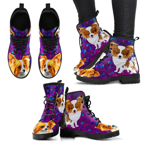 Valentine's Day SpecialPapillon Dog Print Boots For Women