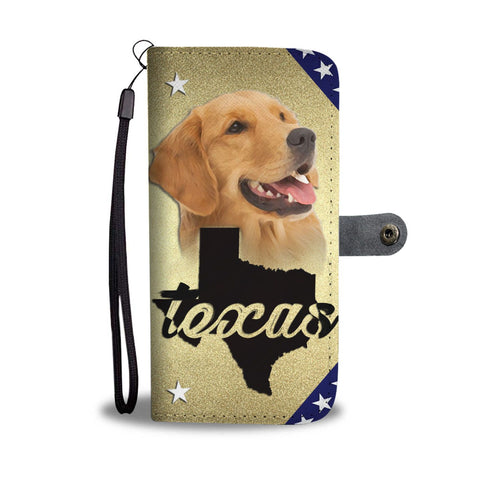 Amazing Golden Retriever Print Wallet CaseTX State