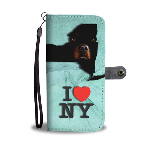 Amazing Rottweiler Dog Print Wallet CaseNY State