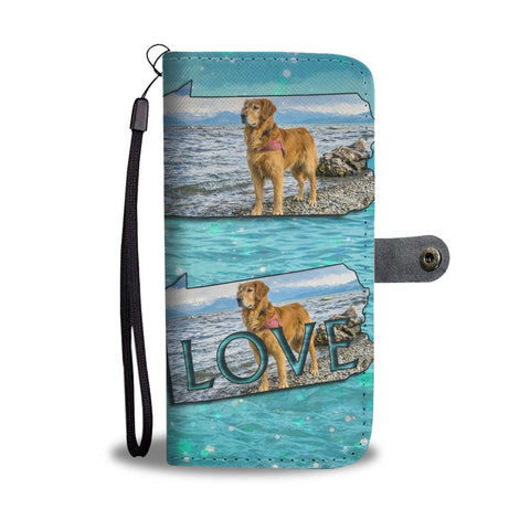 Amazing Golden Retriever Print Limited Edition Wallet CasePA State