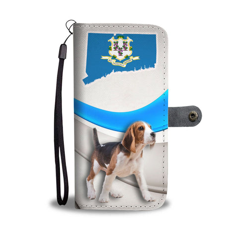 Amazing Beagle Print Wallet CaseCT State