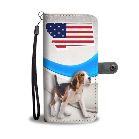 Amazing Beagle Print Wallet CaseMT State
