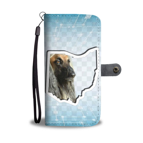 Afghan Hound Print Wallet CaseOH State