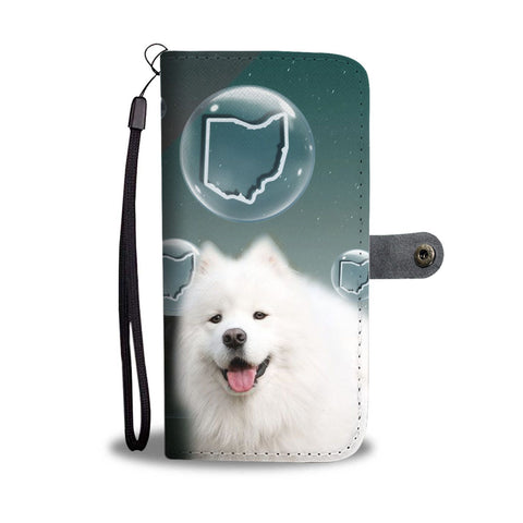 American Eskimo Dog Print Wallet CaseOH State