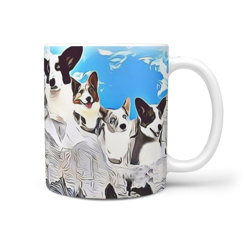 Cardigan Welsh Corgi Mount Rushmore Print 360 White Mug