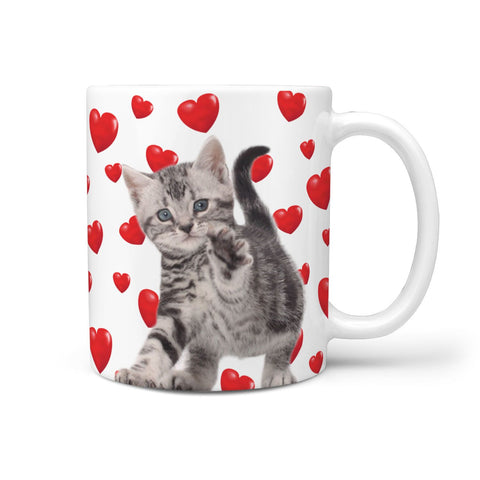 Cute American Shorthair Cat Print 360 Mug
